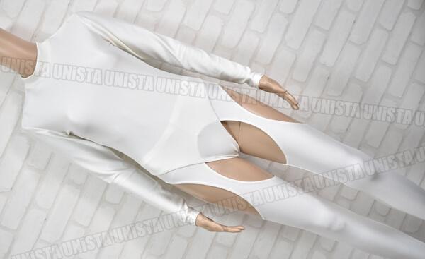 2WAY ツーウェイ 女子バレエ・ダンス ロングスリーブレオタード・タイツセット ホワイト