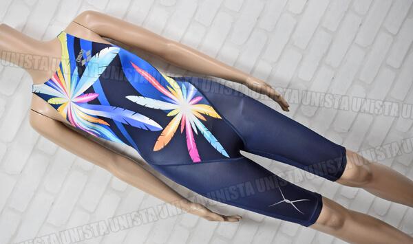 ARENA アリーナ FAR-6508W NUX 初期ニュークス ハーフスパッツ 女子競泳水着 ネイビー・ブルー