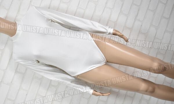 Body Wrappers ボディラッパーズ 女子バレエ・ダンス バックジップ型 ロングスリーブレオタード 無地 ホワイト