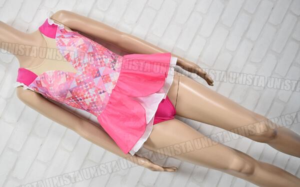 Chacott チャコット 301834-0004-64 女子バレエ・ダンス スカート一体型 ノースリーブレオタード ピンク・ベージュ