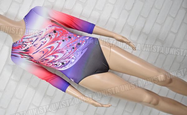 GK ELITE SBG201 女子体操競技 レオタード パープル・レッドグラデーション