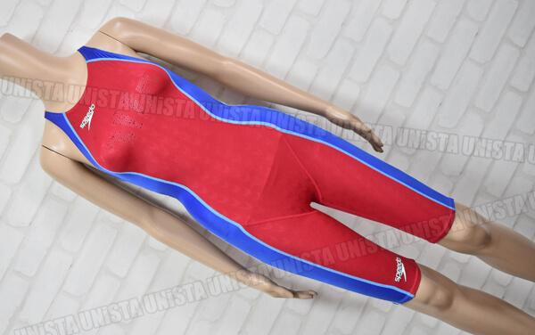 SPEEDO スピード 83OC-50476 FASTSKIN-FS2 ファーストスキンFS2 ハーフスパッツ 女子競泳水着 レッド・ブルー