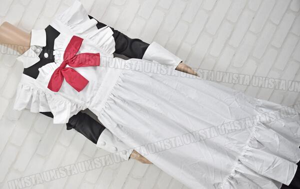 CANDY FRUIT キャンディフルーツ デカリボン付き メイド服・メイド衣装 コスプレ衣装 ブラック・ホワイト (2)