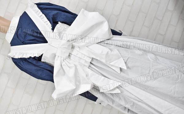 CANDY FRUIT キャンディフルーツ デカリボン付き メイド服・メイド衣装 コスプレ衣装 ネイビー・ホワイト2