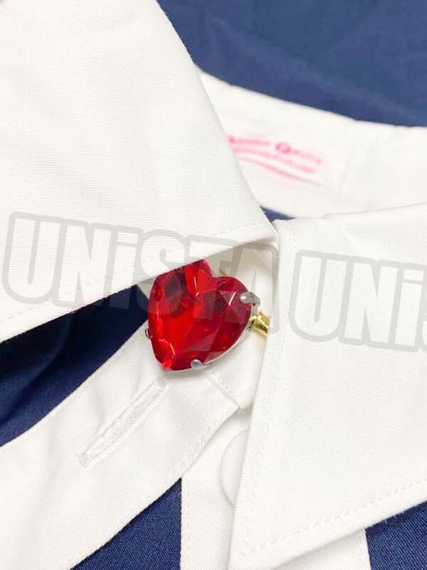 CANDY FRUIT キャンディフルーツ デカリボン付き メイド服・メイド衣装 コスプレ衣装 ネイビー・ホワイト4