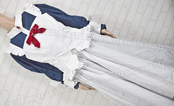CANDY FRUIT キャンディフルーツ デカリボン付き メイド服・メイド衣装 コスプレ衣装 ネイビー・ホワイト1
