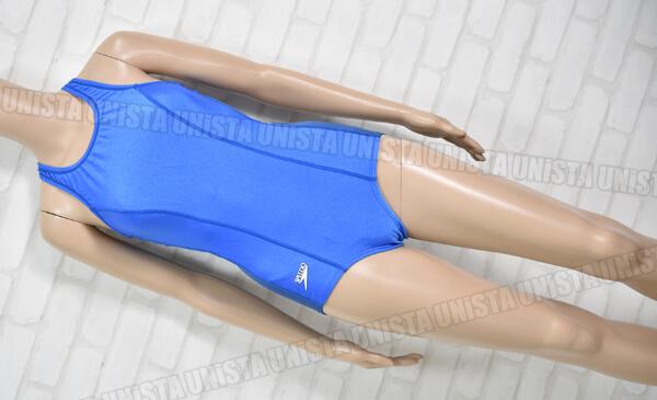 SPEEDO スピード K83NR-2059 レーサーバック型 ワンピース水着・女子競泳水着 ブルー・ネイビー mizuno製