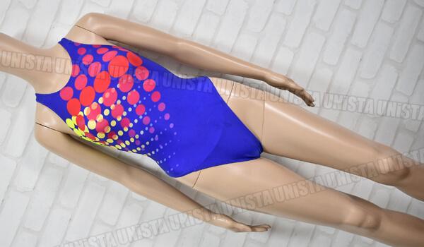ARENA アリーナ STRUSH ストラッシュ RIMIC ハイカット 女子競泳水着 ドット柄 ブルー
