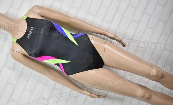 SPEEDO スピード AQUASPEC アクアスペック マーキュライン 女子競泳水着 mizuno期 ブラック・蛍光グリーン