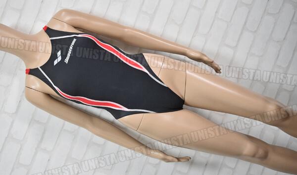 ARENA アリーナ OAR-0514W AQUAFORCE-PRISMA RIMIC FINA ブリヂストンスイミングスクール指定 女子競泳水着 ブラック・レッド