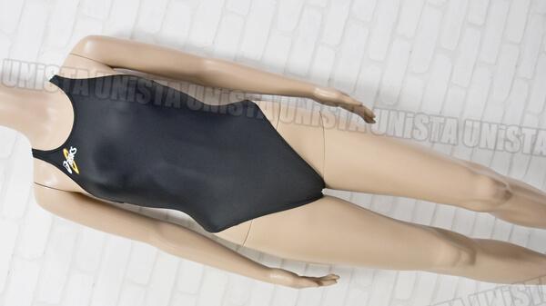 ASICS アシックス ALS403 初期ロゴ HYDRO SP ハイドロSP ハイカット女子競泳水着 ブラック