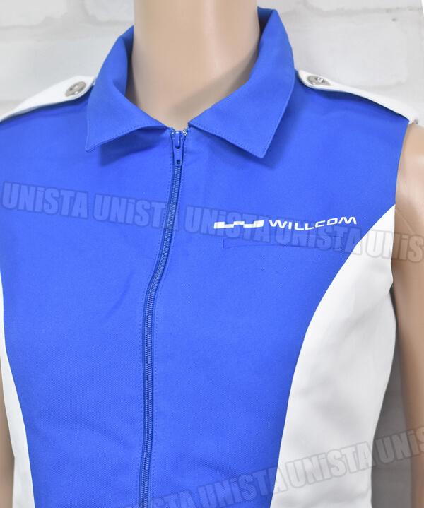 WILLCOM ウィルコム キャンペーンガール衣装 企業制服 ホワイト・ブルー 東京ユニフォーム製胸部