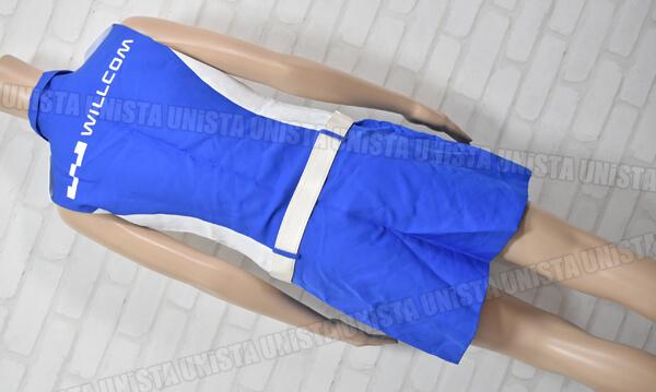 WILLCOM ウィルコム キャンペーンガール衣装 企業制服 ホワイト・ブルー 東京ユニフォーム製背面