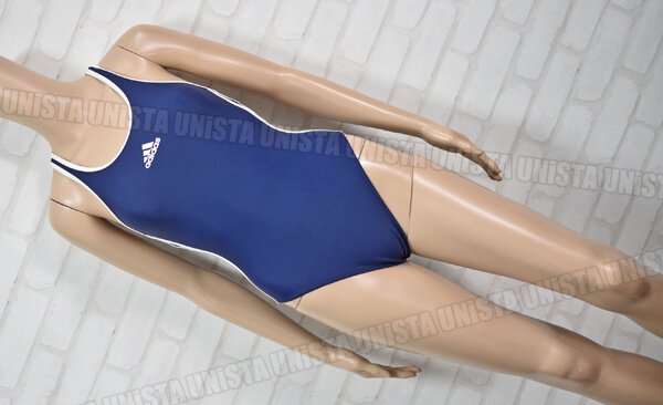 adidas アディダス AGF001 XOバック型 女子競泳水着 ネイビー・ホワイト