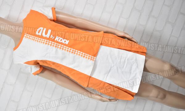 正規品 au エーユー キャンペーンガール衣装 企業制服 オレンジ・ホワイト2