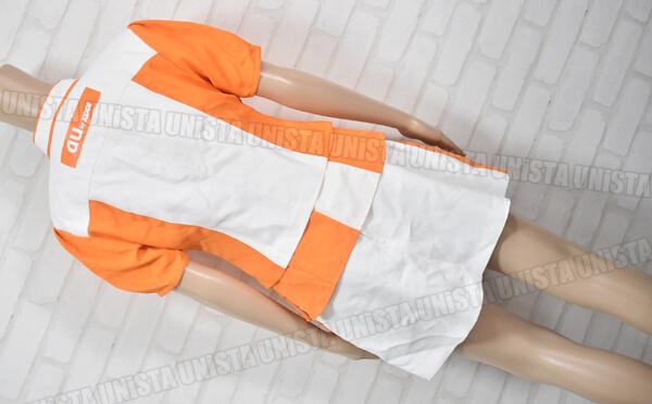 正規品 au エーユー キャンペーンガール衣装 企業制服 オレンジ・ホワイト4