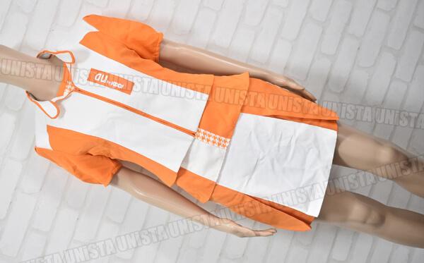正規品 au エーユー キャンペーンガール衣装 企業制服 オレンジ・ホワイト1