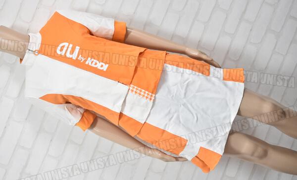 au エーユー キャンペーンガール衣装 企業制服 オレンジ・ホワイト1