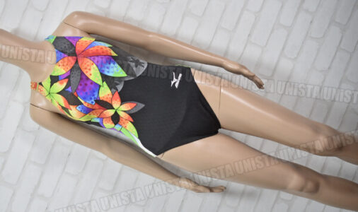 MIZUNO ミズノ N2MA7742 ストリームアクティバ ローカット FINA 女子競泳水着 ネイビー・イエロー