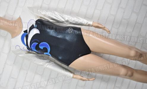 Olynstone オリンストーン 女子体操競技 ロングスリーブレオタード ラインストーン付き