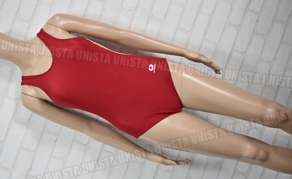 ASICS DEPORTE アシックスデポルテ D-372 ワンピース水着 女子競泳水着 エンジ・ベージュ