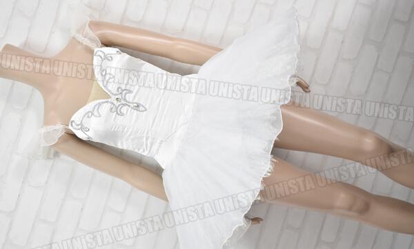 Chacott チャコット 女子バレエ・ダンス バレエ衣裳 バレエチュチュ ホワイト・ベージュ