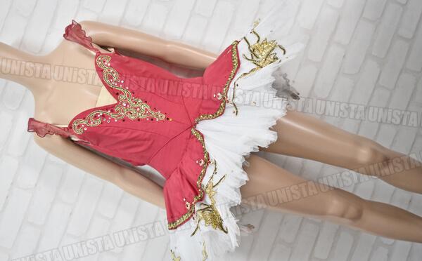Chacott チャコット 女子バレエ・ダンス バレエ衣裳 バレエチュチュ レッド・ホワイト