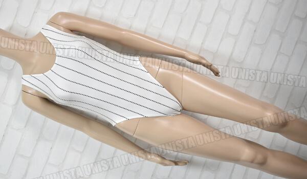LANATARD SASAKI ササキスポーツ 女子体操競技 ノースリーブレオタード ストライプ柄 ホワイト・ブラック