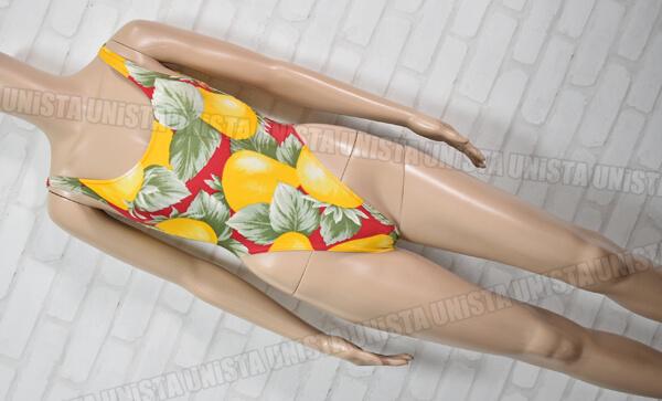 PASSY パッシー 女子バレエ ダンス エアロビクス ハイレグ ノースリーブレオタード 総柄 日本製