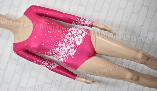 SASAKI 旧ササキスポーツ 女子体操競技 ロングスリーブレオタード エンジ