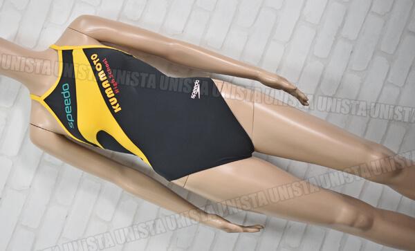 SPEEDO スピード SD56T55 ENDURANCE エンデュランス 熊本高校水泳部 女子競泳水着 ブラック・イエロー