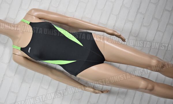 SPEEDO スピード ENDURANCE PLUS エンデュランスプラス 女子競泳水着 ブラック・グリーン mizuno期