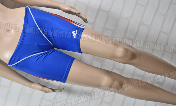 adidas アディダス P4521 ショートボックス水着 男子競泳水着 ブルー
