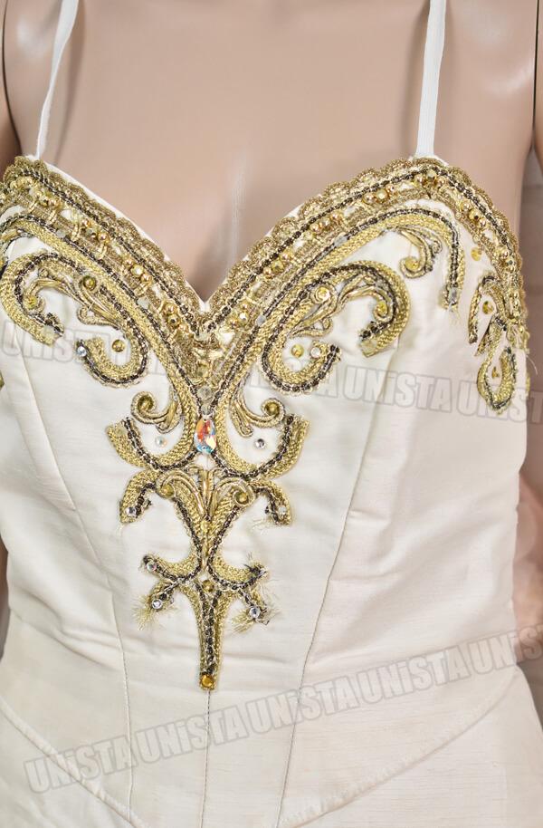 アトリエミツコ バレエ衣裳 バレエチュチュ オーダーメイド品 金平糖 ホワイト・ゴールド2