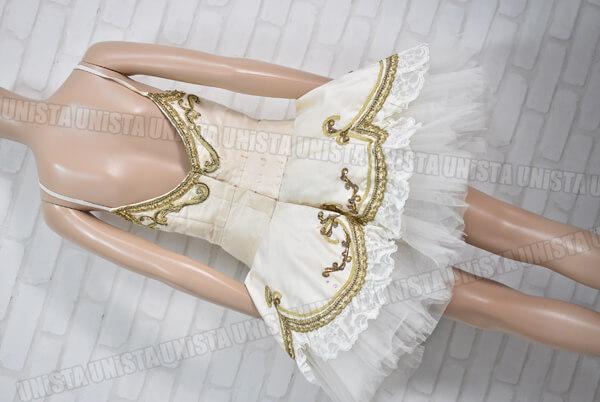 アトリエミツコ バレエ衣裳 バレエチュチュ オーダーメイド品 金平糖 ホワイト・ゴールド4