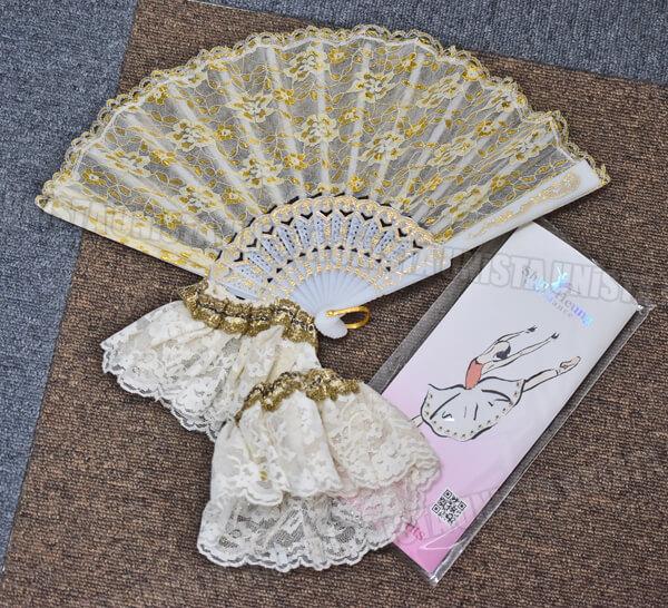 アトリエミツコ バレエ衣裳 バレエチュチュ オーダーメイド品 金平糖 ホワイト・ゴールド5
