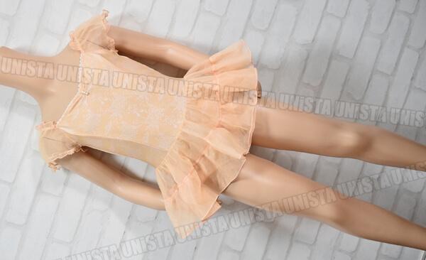 Chacott KIDS チャコットキッズ NO.6511-19029 女子バレエ・ダンス スカート一体型レオタード ベージュ