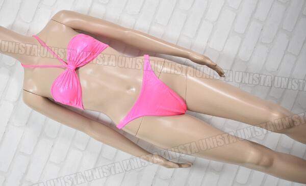 Diplo ディプロ バンドゥビキニ ハイレグ リゾート水着・カジュアル水着 蛍光ピンク