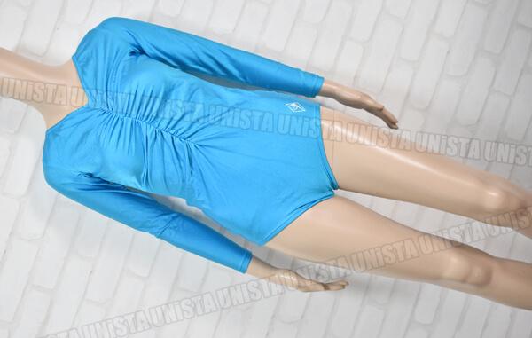 SASAKI 旧ササキスポーツ 女子体操競技 ギャザー ロングスリーブレオタード ライトブルー