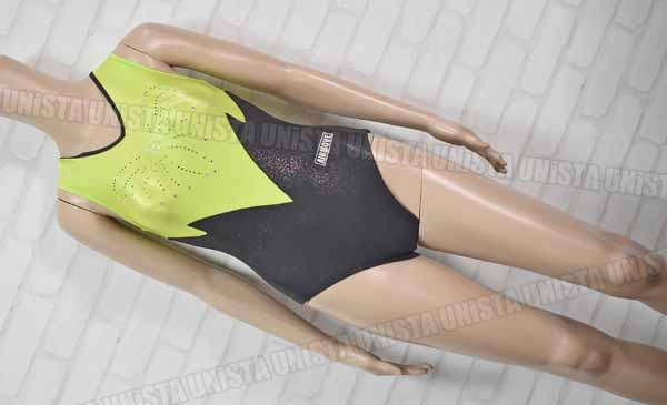 AIRMOVE エアムーブ 女子体操競技 ノースリーブレオタード グリーン・ブラック