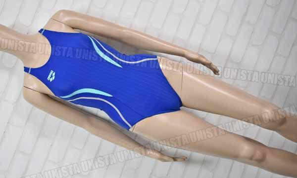 ARENA アリーナ ARN-7051W AQUARACING アクアレーシング UROKOSKIN 着やストラップ FINA 女子競泳水着 ブルー (2)