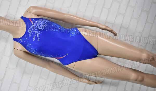 ASICS アシックス AL1031 HYDRO SP ハイドロSP ハイカット 女子競泳水着 ブルー