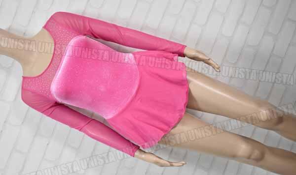 JUSTICE ACTIVE ジャスティス・アクティブ 女子フィギュアスケート アイススケート 衣装 レオタード ピンク