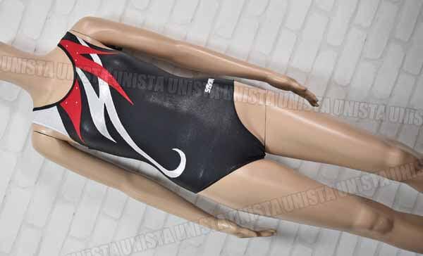 SASAKI ササキスポーツ J-7270G 女子体操競技 ノースリーブレオタード ブラック・シルバー
