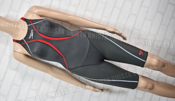 SPEEDO スピード SD48H02 360°FLEX Fastskin XT-W ファーストスキンXTW ハーフスパッツ水着・女子競泳水着 ブラック・レッド