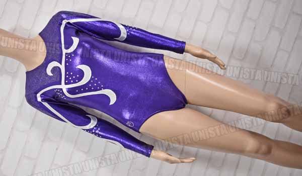TEMA TURN TT 女子体操競技 +LACK SHINE ロングスリーブレオタード ラメ加工 パープル