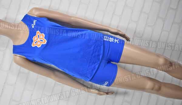 ASICS アシックス 日体大陸上指定 女子陸上ランニングシャツ・スパッツ 上下セット