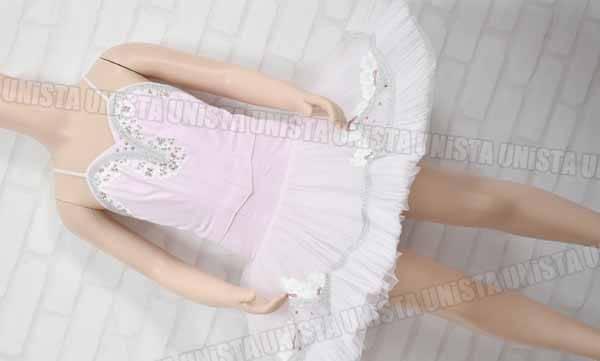 COSTUME KYO コスチューム京 女子バレエ・ダンス バレエ衣裳 バレエチュチュ ピンク・シルバー