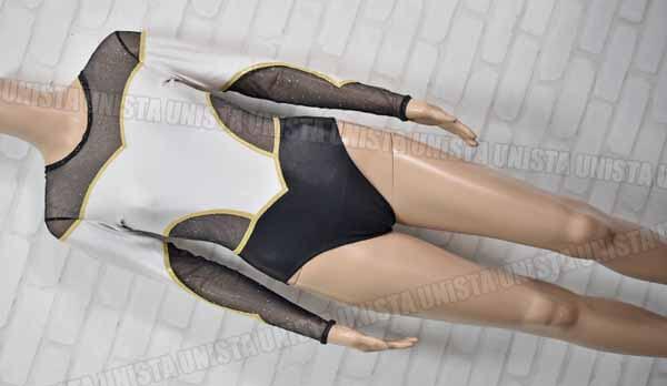 Christian MOREAU クリスチャンモロー 女子体操競技 ロングスリーブレオタード ブラック・ゴールド