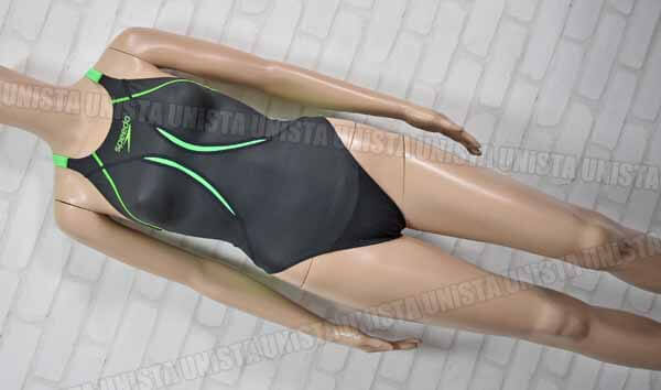 SPEEDO スピード SD46B02 FASTSKIN-XT Active Hybrid2 エイムカットスーツ FINA 女子競泳水着 ブラック・グリーン